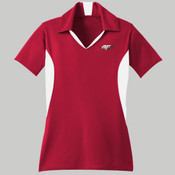 LST655.afb - Ladies Side Blocked Micropique Sport Wick ® Polo
