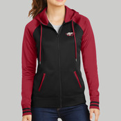 .LST236.afb - Ladies Sport Wick ® Varsity Fleece Full Zip Hooded Jacket