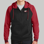 ST236.afb - Sport Wick ® Varsity Fleece Full Zip Hooded Jacket