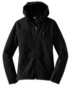 L706 <> Ladies Textured Hooded Soft Shell Jacket <125.131>
